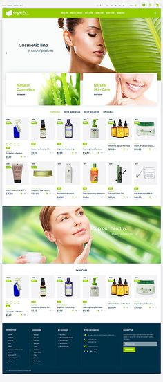 Organic Cosmetics PrestaShop theme features a responsive design hand-crafted for online stores selling nature-inspired healthcare products. Organic Makeup, Organic Beauty, Organic Skin Care, Natural Beauty, Web Design, Design Ideas, Eco Store, Beauty Supply Store, Cosmetic Design
