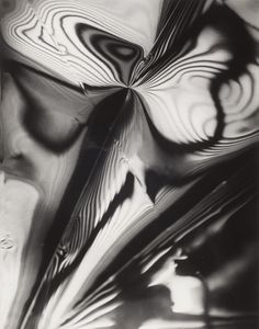 Carlotta Corpron, Fluid Light, 1946 / American Photographer - / Born in the United States and brought up in India Light Reflection And Refraction, Florence Henri, Gelatin Silver Print, Culture, Film Stills, Abstract Photography, Moma, Art Google, Lighting Design