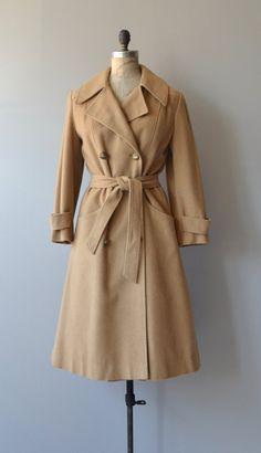 Swindown wool  trench vintage wool 70s coat  camel by DearGolden