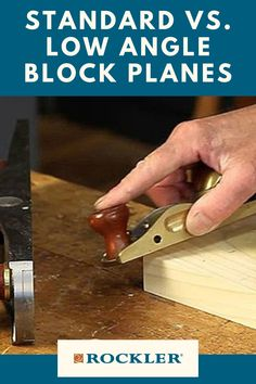 Is there a difference between a low-angle and standard block plane? Join the conversation here! #CreateWithConfidence #Standard #LowAngle #Plane #BlockPlane #LearnWithRockler Rockler Woodworking, Woodworking Hand Tools, Woodworking Shop, Low Angle, The Good Old Days, Angles, Plane, Conversation, I Am Awesome