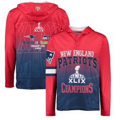 super popular 56868 88368 NFL New England Patriots Klew On the Fifty Matchup Hooded Long Sleeve  T-Shirt -