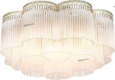 23210! Д57 Выс29 см 1632-9U Люстра потолочная Favourite Barhan, 9 ламп, слоновая кость с золотом и прозрачным