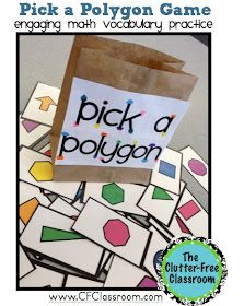 Clutter-Free Classroom: 2D Geometry Games {Common Core Math Activities}
