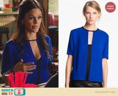 Zoe's blue and black keyhole cutout top on Hart of Dixie. Outfit Details: http://wornontv.net/22525 #HartofDixie