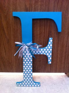 Oversized Monogram Wood Letter, Home Decor, Door Hanger, Mantel. $20.00, via Etsy.