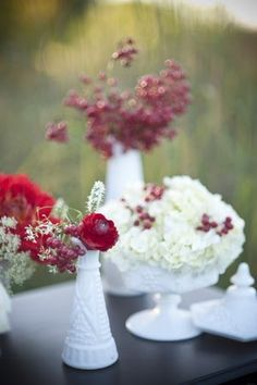 Wedding Inspirations   Vintage Flower Containers   UBetts Rental & Design