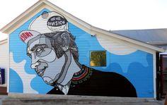 David Flores~new mural~Austin, USA Graffiti Murals, Street Art Graffiti, Mural Art, Wall Art, Austin Murals, Urban Painting, Best Street Art, California Art, Street Artists