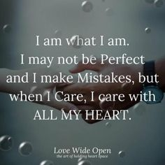 I Care with All of My Heart