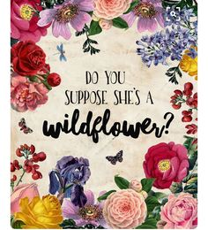 Do you suppose she's a wildflower?
