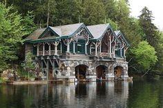 Boat house--Adirondacks, New York