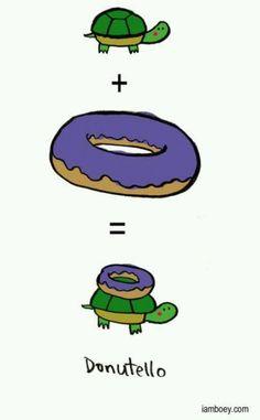 Hahaha purple donut+turtle=donutello !!!!! XD