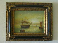 Maritimes Gemälde -Segelschiffe-Windjammer, sehr schöner Rahmen de.picclick.com