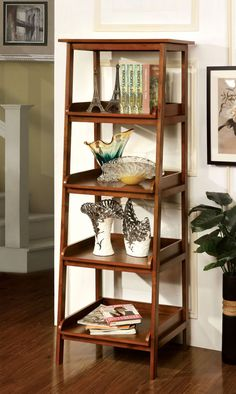 Furniture Of America 4-Tier Shelf Cm-Ac121 Jaegen Collection for $173