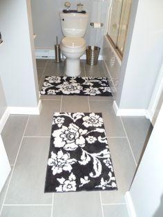 Bath Reno Floor View 12 x 24 porcelin tile