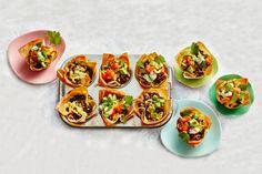 Kijk wat een lekker recept ik heb gevonden op Allerhande! Mini-taco bites in muffinvorm