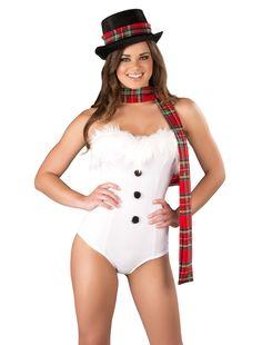 Ice Queen Romper Snowman Costume #snowman #snowgirl #icequeen #fancydress #costume #christmas #sexy #princess #romper #hat #scarf #jackfrost