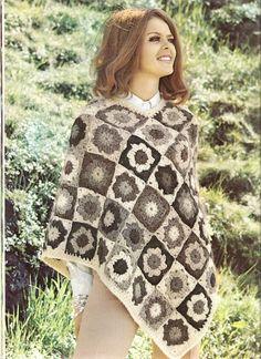 PONCHO Crochet Poncho Pattern  GRIMSVOTN by suerock on Etsy, $3.99