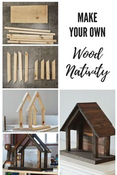 to make your own wood nativity DIY natvitiy for willow tree figurines. Christmas DecorDIY natvitiy for willow tree figurines. Christmas Wood Crafts, Homemade Christmas, Christmas Projects, Holiday Crafts, Christmas Crafts, Christmas Decorations, French Christmas, Xmas, Christmas Printables