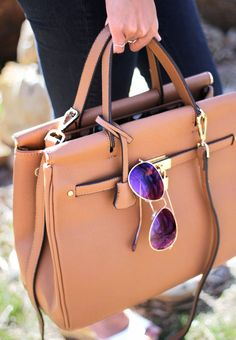 Perfect Tan Bag + Aviators
