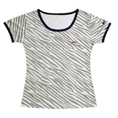 Nike Miami Dolphins Chest Embroidered Logo Women Zebra Stripes Tshirt Nfl  Denver Broncos 3019eda55
