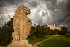 The lion of Lublin, in southeastern Poland's largest city Cityscapes, Poland, Folk Art, Mount Rushmore, Lion Sculpture, Statue, Mountains, Projects, Photography
