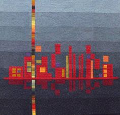 """How cool would it be to do this using the Seattle skyline?!! """"modern chic quilt"""" (top half is a city scape)"""