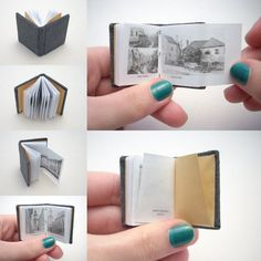 Miniature books , make some as tradeables for very good Geocaches.