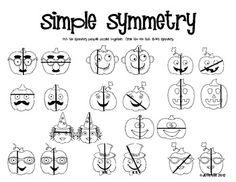 FREE!................  pumpkin symmetry activity