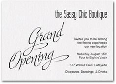 This was my invite to my gallery grand opening love the whiteblack white sparkle grand opening anniversary invitationsevent invitationsinvitation wordinginvitation stopboris Choice Image