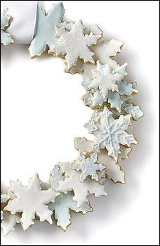 Build a Holiday Wreath With Snowflake Cookies