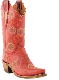 Lucchese 1883 Western Calf N4747 Red, $351.00