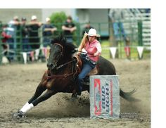 Barrel Racing!!!  I did barrel racing in college in 93, what a rush, I loved it.  (BTW-this is not me LOL)