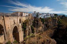 Ronda is situated nearly 750 meters above sea level. Description from amazingplacesonearth.com. I searched for this on bing.com/images