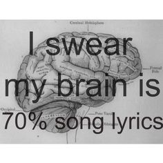 I swear my brain is 50% song lyrics w/lots of la la la's instead of the correct words. Still, my brain works best musically.