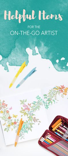 Are you an artist? Can't decide which art supplies to take with you or how? Don't fret! We have all the perfect products to help you stay organized. Now you can practice and create art wherever you are!
