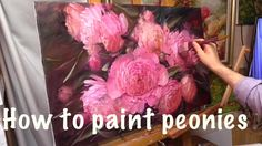 Oil painting Videos House - - Oil painting Abstract New York - - - Oil Painting Tips, Acrylic Painting Techniques, Simple Oil Painting, Oil Painting Flowers, Painting Videos, Painting Lessons, Painting Clouds, Watercolour Flowers, Painting Abstract
