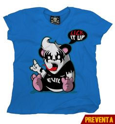 """Playera Panda""  Morra  disponible en www.kingmonster.com.mx"