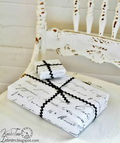 DIY French Letter Gift Wrap ~~~via KnickofTimeInteri...