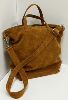 Suede Bag made by STOFFELDESIGN New Bag, Bag Making, Tote Bag, Leather, Handmade, Bags, Objects, Handbags, Hand Made