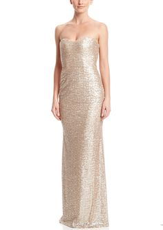 On ideel: LA FEMME Mermaid Sequin Gown With Criss-Cross Back