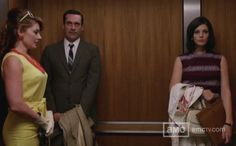 Mad Men S5E4: Love the dress Megan is wearing.