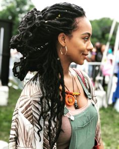 YES, Ma'am 🙌🏾🔥🙌🏾 our Naturel Boho Goddess Crochet Faux Locs just look oh so natural! You rock them so well,,, and they're still looking good even after 2 months. Faux Locs Hairstyles, Crochet Braids Hairstyles, Girl Hairstyles, Party Hairstyles, Black Hairstyles, Dreadlocks, Faux Dreads, Long Dreads, Twist Braids