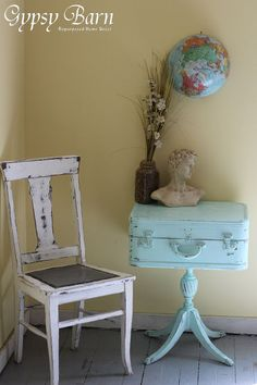 Turquoise and Trunks ... join us over at www.facebook.com/gypsybarn for never ending fun in repurposing, DIY, Tools, design, renos and more!