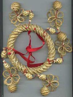 slaměný závěs, 12cm - Vanocni ozdoby Ivana Jandova