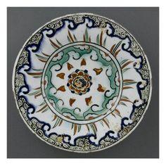 Petit plat au feston vert- Art.fr - Musée national de la Renaissance (Ecouen) (RMN) - déco artistique pour amoureux d'art
