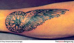Winged Wheel Tattoo
