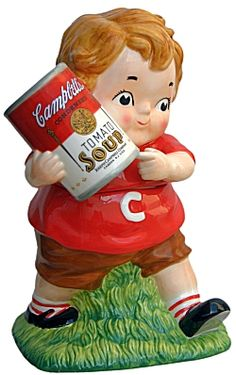 "CAMPBELL/'S SOUP Co 3.5/"" Chicken Noodle Soup Ornament Figurine"