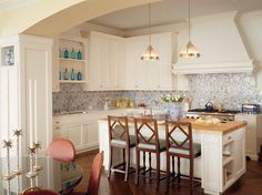 I would LOVE to have anyone of these kitchen in my future home!                                          Elle Decor     CocoKelly     Curbly...
