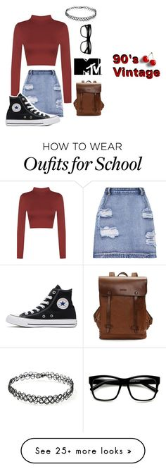 """""""90's is by far the best year hands down"""" by jusfad on Polyvore featuring WearAll, Converse, Forever 21 and ZeroUV"""
