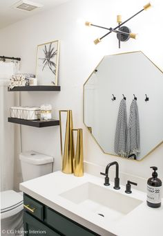 Bathroom Decor modern Modern Guest Bathroom Renovation on a Budget One Room Challenge REVEAL Small Bathroom Decor, Bathroom Decor, Guest Bathroom, Home Remodeling, Guest Bathroom Renovation, Modern Bathroom Decor, Bathroom Renovations, Apartment Decor, Bathroom Design